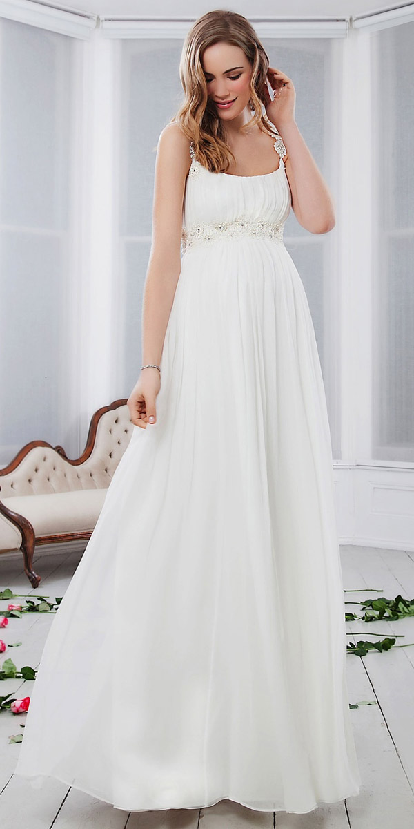 3cc15cb84473 Gli abiti da sposa premaman  Cercateli anche sul web ...