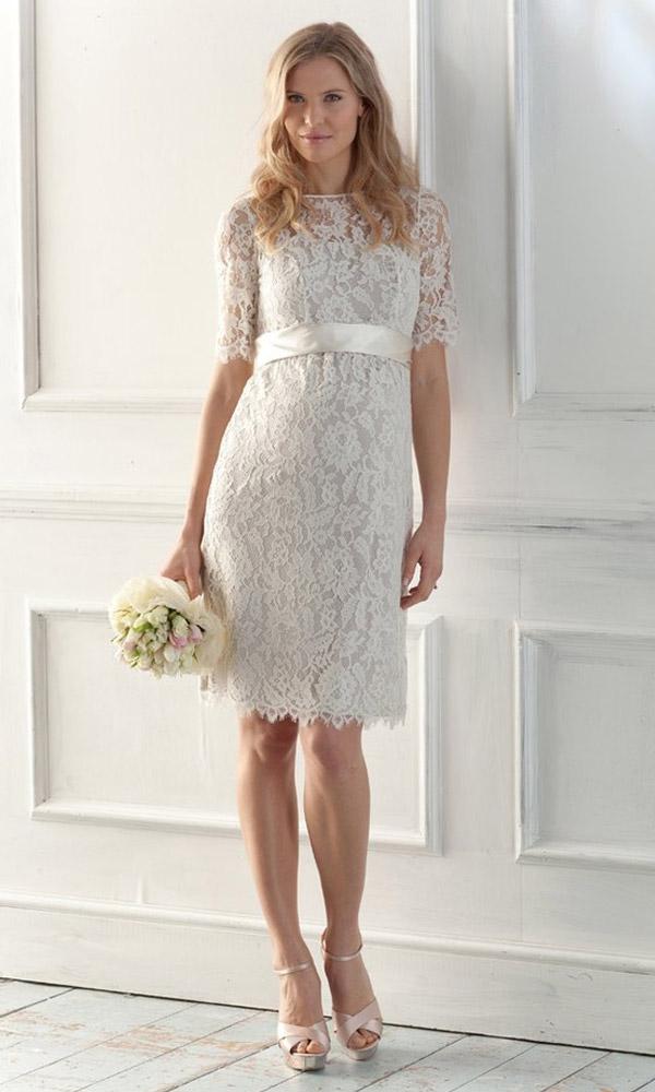 Popolare Gli abiti da sposa premaman? Cercateli anche sul web  ZL87