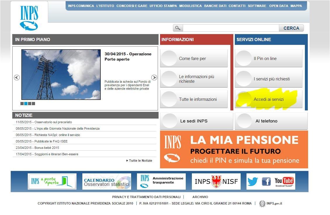 Bonus beb 80 euro al mese come fare la domanda on line for Inps on line accedi ai servizi