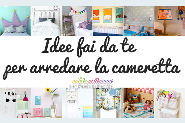 Arredare la cameretta dei bambini 12 idee fai da te for Idee pareti cameretta neonato