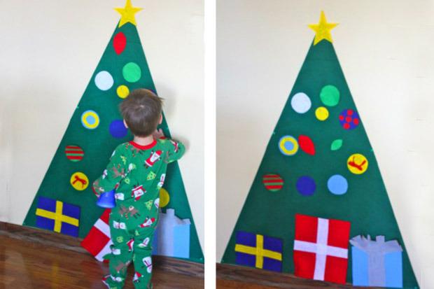 Addobbi e decorazioni natalizie da fare con i bambini periodo fertile - Decorazioni parete bambini ...