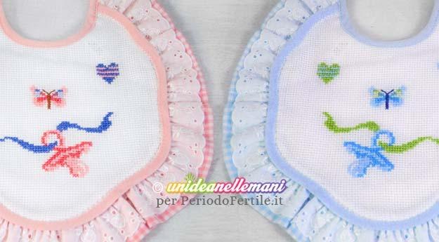 Ricamare il Corredino: schemi a punto croce per nascita - Periodo Fertile