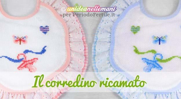 ricamare il corredino schemi a punto croce per nascita periodofertileit