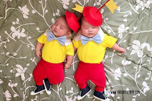 costume carnevale neonati gemelli
