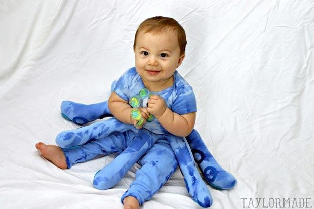 costume carnevale neonato polipo