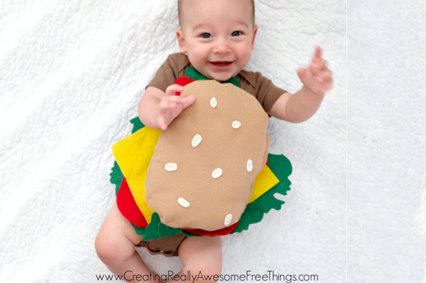 costume carnevale panino hamburger