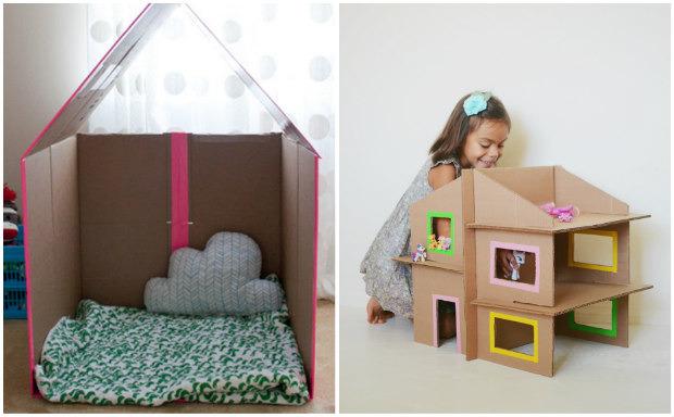 Giochi fai da te con il cartone 12 fantastiche idee per i for Costruire una piccola casa da soli