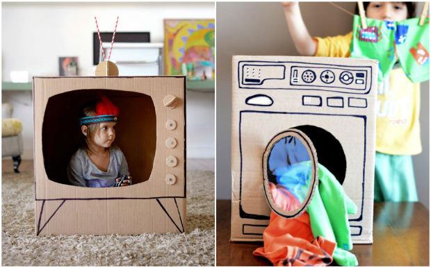 Giochi fai da te con il cartone 12 fantastiche idee per i for Costruire la propria casa online