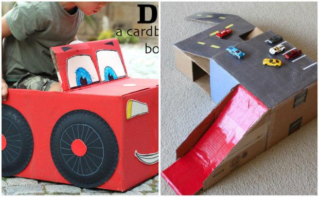 Giochi fai da te con il cartone 12 fantastiche idee per i for Piani di garage fai da te