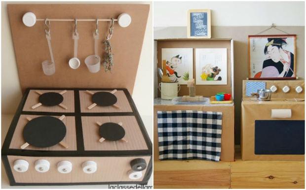Giochi fai da te con il cartone 12 fantastiche idee per i - Creare una cucina ...