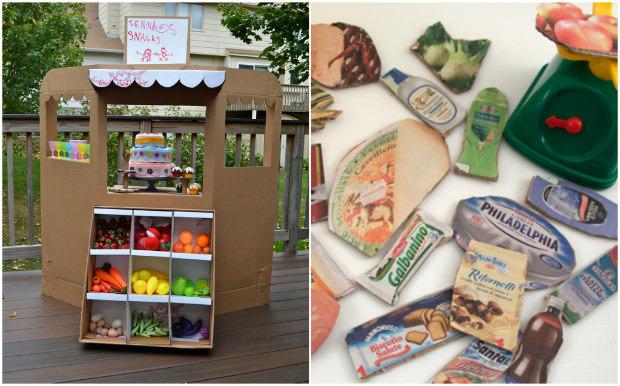 Giochi fai da te con il cartone 12 fantastiche idee per i - Costruire una cucina con materiali di recupero ...