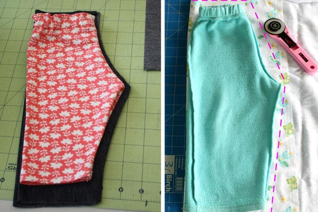 pantaloni per bambini fai da te