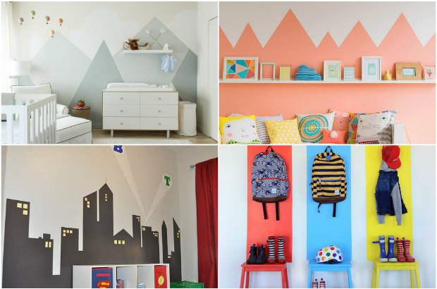 6 idee creative per dipingere le pareti della cameretta