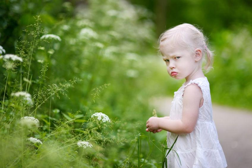 Bambina arrabbiata