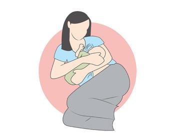 posizione allattamento culla-laterale