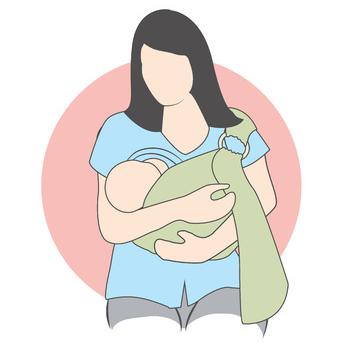 posizione allattamento in-fascia