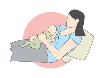 posizione allattamento supina