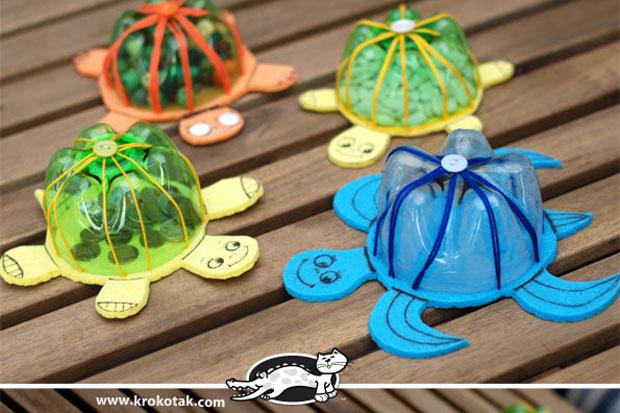 Super Giocare riciclando: lavoretti per bambini con le bottiglie di GN16