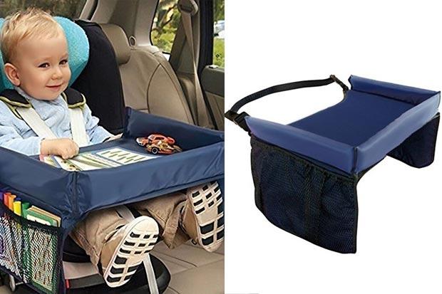 Si tratta di un piano da viaggio impermeabile e flessibile da appoggiare  sopra al seggiolino. È utile sia come vassoio per mangiare che come ... 5ccc5ad03f7f