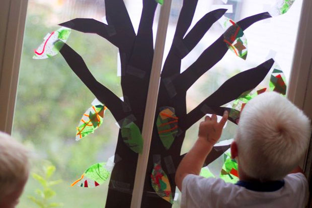 Decorazione Finestre Autunno : Attività e lavoretti per bambini da fare in autunno