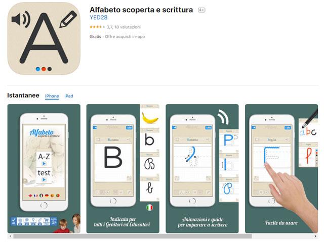 app per imparare a leggere e scrivere