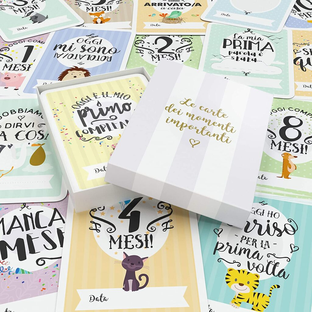 Mileston Baby Cards