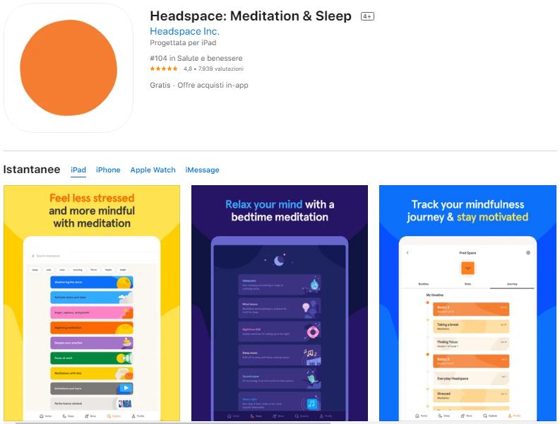 app per rilassarsi